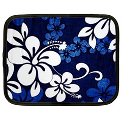Blue Hibiscus Netbook Case (Large)