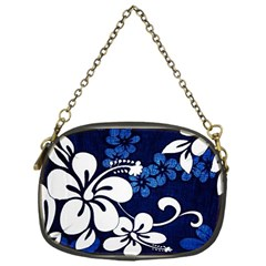 Blue Hibiscus Chain Purses (One Side)