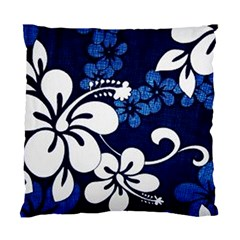 Blue Hibiscus Standard Cushion Case (Two Sides)
