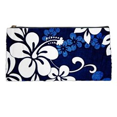 Blue Hibiscus Pencil Cases