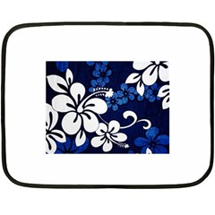 Blue Hibiscus Double Sided Fleece Blanket (Mini)