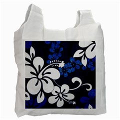 Blue Hibiscus Recycle Bag (One Side)