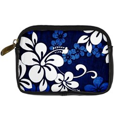 Blue Hibiscus Digital Camera Cases