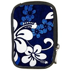 Blue Hibiscus Compact Camera Cases