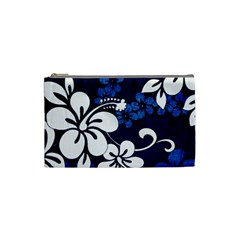 Blue Hibiscus Cosmetic Bag (Small)