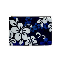 Blue Hibiscus Cosmetic Bag (Medium)