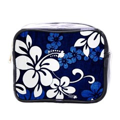 Blue Hibiscus Mini Toiletries Bags