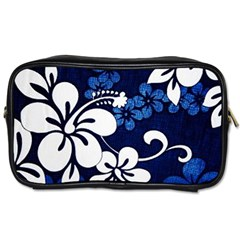 Blue Hibiscus Toiletries Bags 2-Side