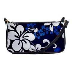 Blue Hibiscus Shoulder Clutch Bags