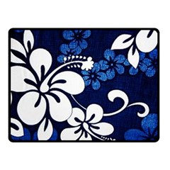 Blue Hibiscus Fleece Blanket (Small)