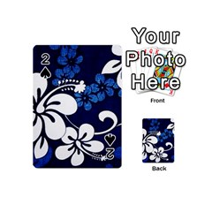 Blue Hibiscus Playing Cards 54 (Mini)