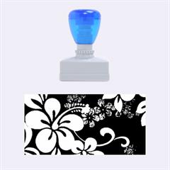 Blue Hibiscus Rubber Stamps (Medium)
