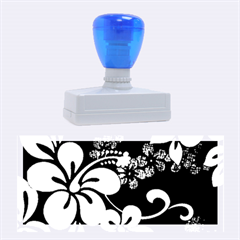 Blue Hibiscus Rubber Stamps (Large)