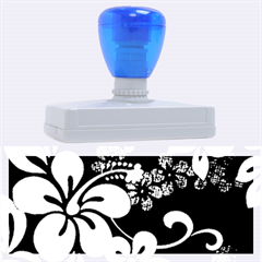 Blue Hibiscus Rubber Address Stamps (XL)