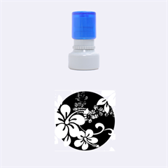Blue Hibiscus Rubber Round Stamps (Small)