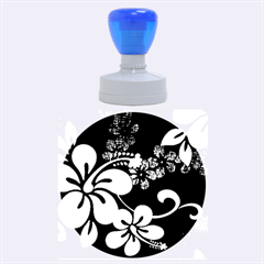 Blue Hibiscus Rubber Round Stamps (Large)
