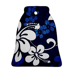 Blue Hibiscus Bell Ornament (2 Sides)