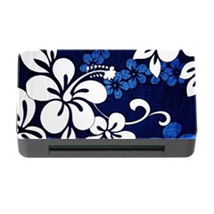 Blue Hibiscus Memory Card Reader with CF