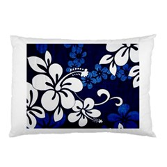 Blue Hibiscus Pillow Case (Two Sides)