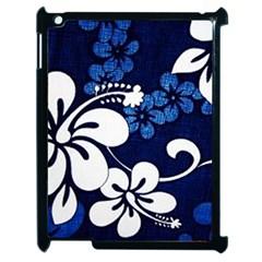 Blue Hibiscus Apple iPad 2 Case (Black)