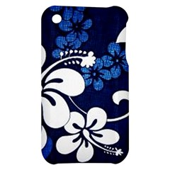 Blue Hibiscus Apple iPhone 3G/3GS Hardshell Case