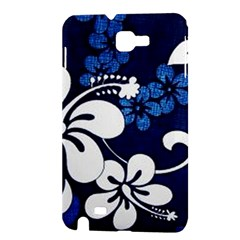Blue Hibiscus Samsung Galaxy Note 1 Hardshell Case