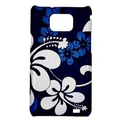 Blue Hibiscus Samsung Galaxy S2 i9100 Hardshell Case