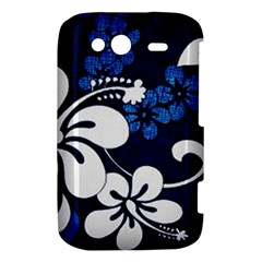 Blue Hibiscus HTC Wildfire S A510e Hardshell Case