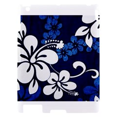 Blue Hibiscus Apple iPad 2 Hardshell Case