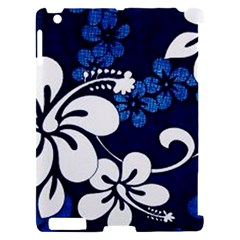 Blue Hibiscus Apple iPad 2 Hardshell Case (Compatible with Smart Cover)