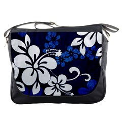 Blue Hibiscus Messenger Bags