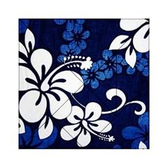 Blue Hibiscus Acrylic Tangram Puzzle (6  x 6 )
