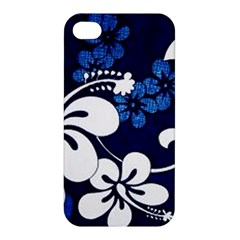 Blue Hibiscus Apple iPhone 4/4S Premium Hardshell Case