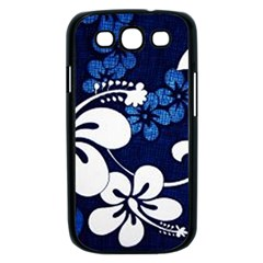 Blue Hibiscus Samsung Galaxy S III Case (Black)