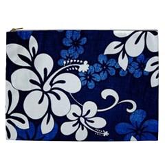 Blue Hibiscus Cosmetic Bag (XXL)