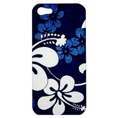 Blue Hibiscus Apple iPhone 5 Hardshell Case