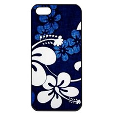 Blue Hibiscus Apple iPhone 5 Seamless Case (Black)