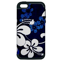 Blue Hibiscus Apple iPhone 5 Hardshell Case (PC+Silicone)