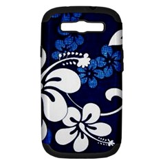Blue Hibiscus Samsung Galaxy S III Hardshell Case (PC+Silicone)