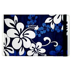 Blue Hibiscus Apple iPad 3/4 Flip Case