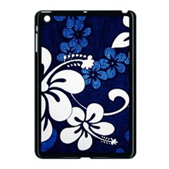 Blue Hibiscus Apple iPad Mini Case (Black)