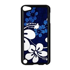 Blue Hibiscus Apple iPod Touch 5 Case (Black)