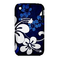 Blue Hibiscus Apple iPhone 3G/3GS Hardshell Case (PC+Silicone)