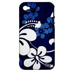 Blue Hibiscus Apple iPhone 4/4S Hardshell Case (PC+Silicone)
