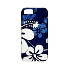 Blue Hibiscus Apple iPhone 5 Classic Hardshell Case (PC+Silicone)