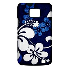Blue Hibiscus Samsung Galaxy S II i9100 Hardshell Case (PC+Silicone)