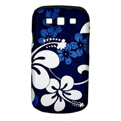 Blue Hibiscus Samsung Galaxy S III Classic Hardshell Case (PC+Silicone)