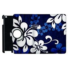 Blue Hibiscus Apple iPad 3/4 Flip 360 Case