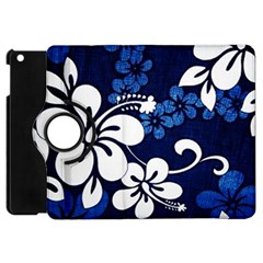 Blue Hibiscus Apple iPad Mini Flip 360 Case