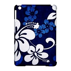 Blue Hibiscus Apple iPad Mini Hardshell Case (Compatible with Smart Cover)